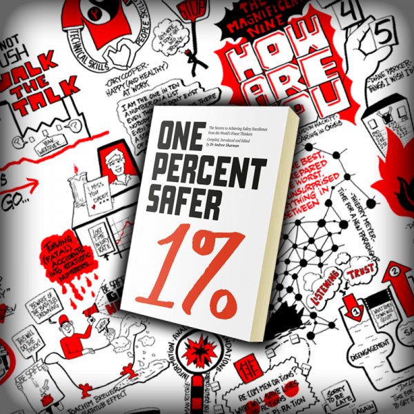 Image of One Percent Safer book and gatefold artwork